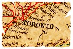 De oude kaart van Toronto stock fotografie