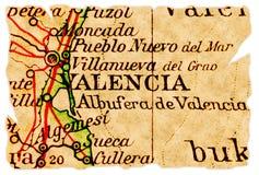 De oude kaart van Valencia royalty-vrije stock afbeeldingen