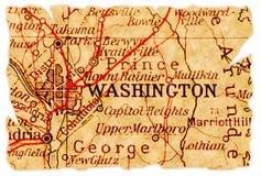 De oude kaart van Washington royalty-vrije stock afbeelding