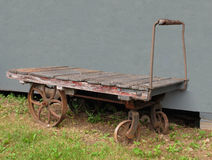 De oude kar van de spoorwegbagage Royalty-vrije Stock Foto's
