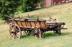 De oude Kar van het Paard Stock Afbeeldingen