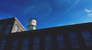 De oude Katoenen Molenbouw Royalty-vrije Stock Afbeelding