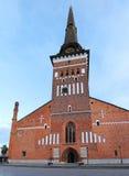 De oude kerk in het centrum van Vasteras-stad in Zweden Stock Foto