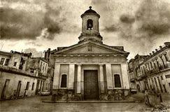 De oude kerk in Oude Havana-3 Stock Afbeeldingen