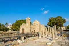 De oude Kerk van Ayia Kyriaki Chrysopolitissa Royalty-vrije Stock Afbeelding