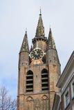 De oude kerktoren in Delft. Royalty-vrije Stock Afbeelding
