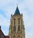 De oude kerktoren in Gorinchem. Royalty-vrije Stock Afbeeldingen
