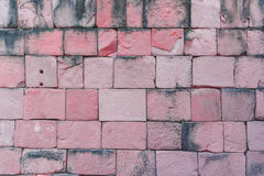 De oude Khmer muur van de Kasteelsteen Stock Foto's