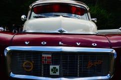 De oude klassieke rode details van de autoinham Stock Fotografie