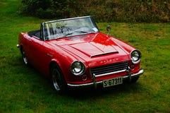 De oude klassieke rode details van de autoinham Royalty-vrije Stock Foto's