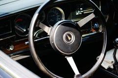 De oude klassieke zwarte details van de autoinham Royalty-vrije Stock Foto's