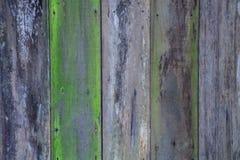 De oude oude kleur schilderde geweven ruwe natuurlijke houten van het de muurpaneel van de omheiningsvloer de raadsachtergrond in Stock Afbeelding