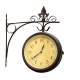 De oude klok van de grunge antieke muur Royalty-vrije Stock Foto