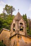 De oude klok van de mediterrankerk Royalty-vrije Stock Afbeelding