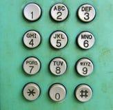 De oude knoop van de telefoonwijzerplaat Stock Afbeeldingen