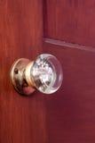 De oude knop van de glasdeur Royalty-vrije Stock Afbeeldingen