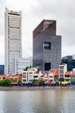 De oude Koloniale bouw bij Bootkade die tegengesteld aan Loterijen s landen stock afbeelding