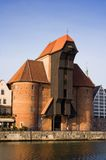 De oude Kraan in Gdansk, Pomerania, Polen. Stock Afbeelding