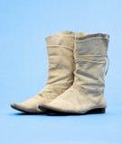 De oude Laarzen van de Cowboy Royalty-vrije Stock Fotografie