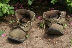 De oude Laarzen van de Tuin Stock Foto