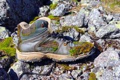 De oude Laarzen van de Wandeling Stock Afbeeldingen