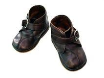 De oude laarzen van het kind Stock Foto