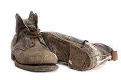 De oude Laarzen van het Werk Stock Afbeeldingen