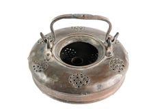 De oude lamp van het brons Stock Foto's