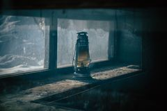 De oude Lamp van de Olie royalty-vrije stock afbeeldingen