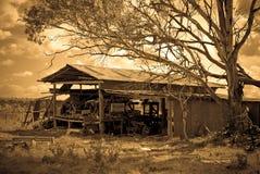 De oude landbouwbedrijfloods Stock Afbeeldingen