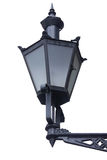 De oude lantaarn van de stijlstraat die op wit wordt geïsoleerdr Stock Fotografie
