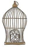 De oude leuke kunst van de vogelkooi Stock Afbeelding