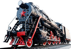 De oude Locomotief van de Stoom Stock Afbeeldingen