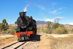 De oude locomotief van de stoomtrein Royalty-vrije Stock Afbeeldingen