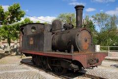 De oude Locomotief van de Steenkoolstoom stock fotografie