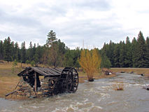 De oude Loods van het Wiel van het Water Royalty-vrije Stock Fotografie