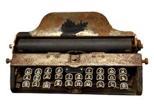 De oude machine schrijvend Stock Foto