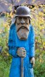 De oude man in een helm Royalty-vrije Stock Fotografie