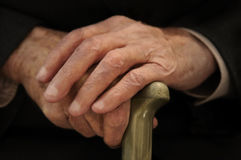 de oude man handen Royalty-vrije Stock Foto