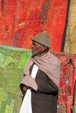 De Oude Man in Rajastan, Jaisalmer, India, 2012, 4 Januari, royalty-vrije stock fotografie