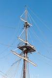 De oude Mast van het Schip Stock Foto's