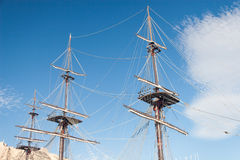 De oude Mast van het Schip Stock Fotografie