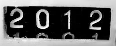 de oude mechanische teller van 2012 Royalty-vrije Stock Foto