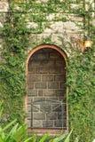 De oude mening van de balkoninstallatie royalty-vrije stock afbeeldingen