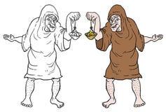 De oude mens trekt Royalty-vrije Stock Afbeelding