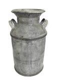 De oude metaalmelk kan en geïsoleerdo deksel. stock foto's