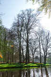 De oude molens van het tulpengebied adnd in netherland Royalty-vrije Stock Afbeeldingen
