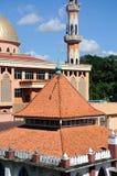 De oude moskee van Masjid Jamek Jamiul Ehsan a K een Masjid Setapak stock foto's