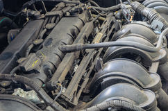 De Oude Motorauto Stock Foto