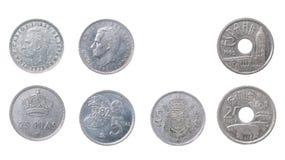 De oude muntstukken Spanje stock foto's